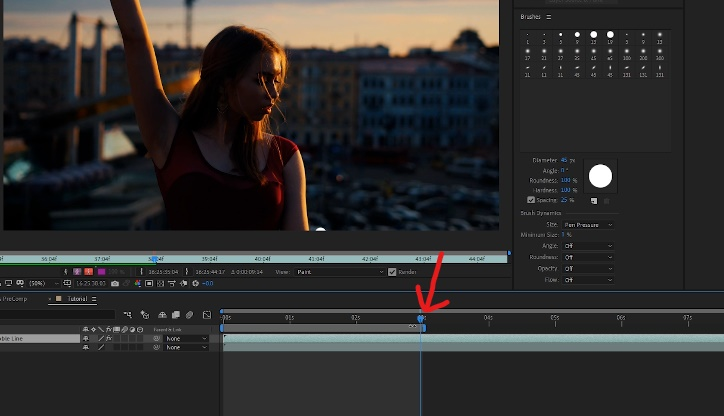 Move timeline cursor to specific part of footage to edit specific part of animated illustration