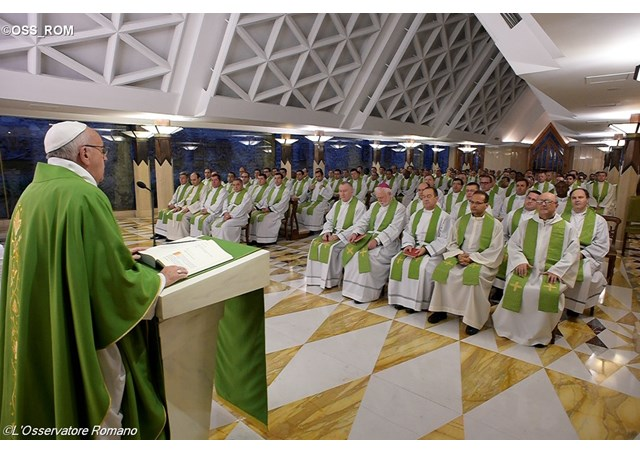 Pope Francis delivering his homily at the Mass - OSS_ROM