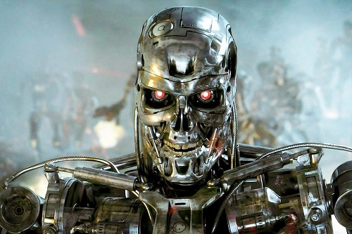 The T-800 Terminator from the Terminator movie(s).