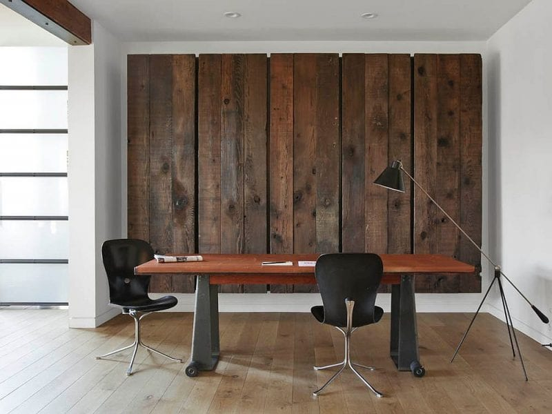 Reclaimed Wooden Materials Create A Warmer Space