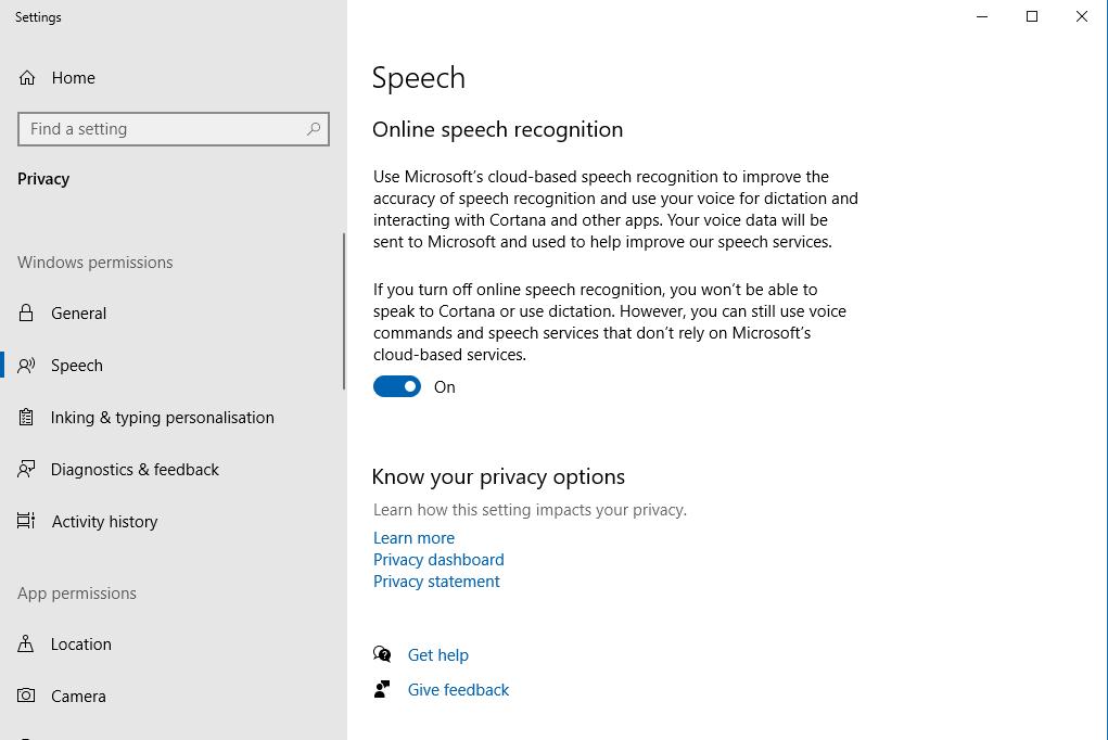 Speech Window