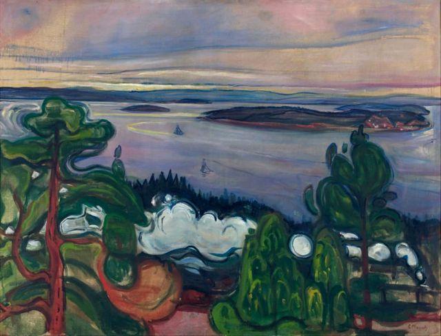 """""""Fumaça do trem"""". Obra da coleção do Museu Munch em Oslo"""