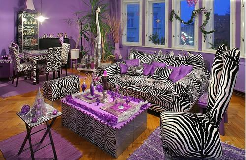 Purple zebra interior