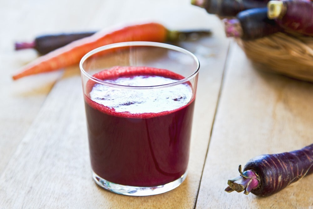 Purple carrot juice for acid reflux is very beneficial