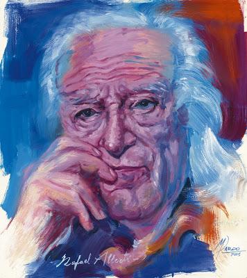 Retrato de Rafael Alberti jamón