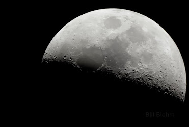 Image of a half-moon taken through the C8 telescope with the Pentax K-10D