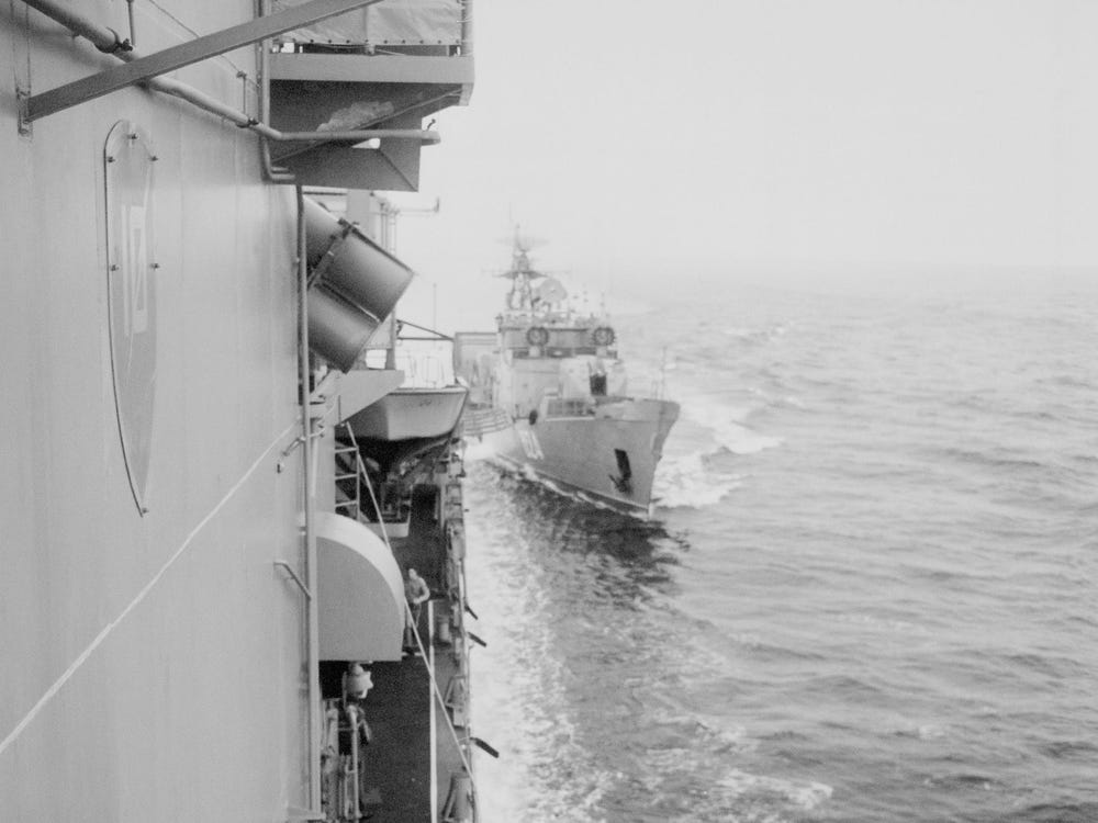 Black Sea Soviet navy frigate SKR-6 destroyer USS Caron