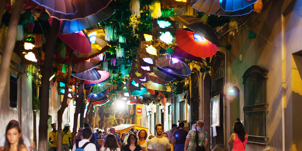 Image result for colourful streets barcelona