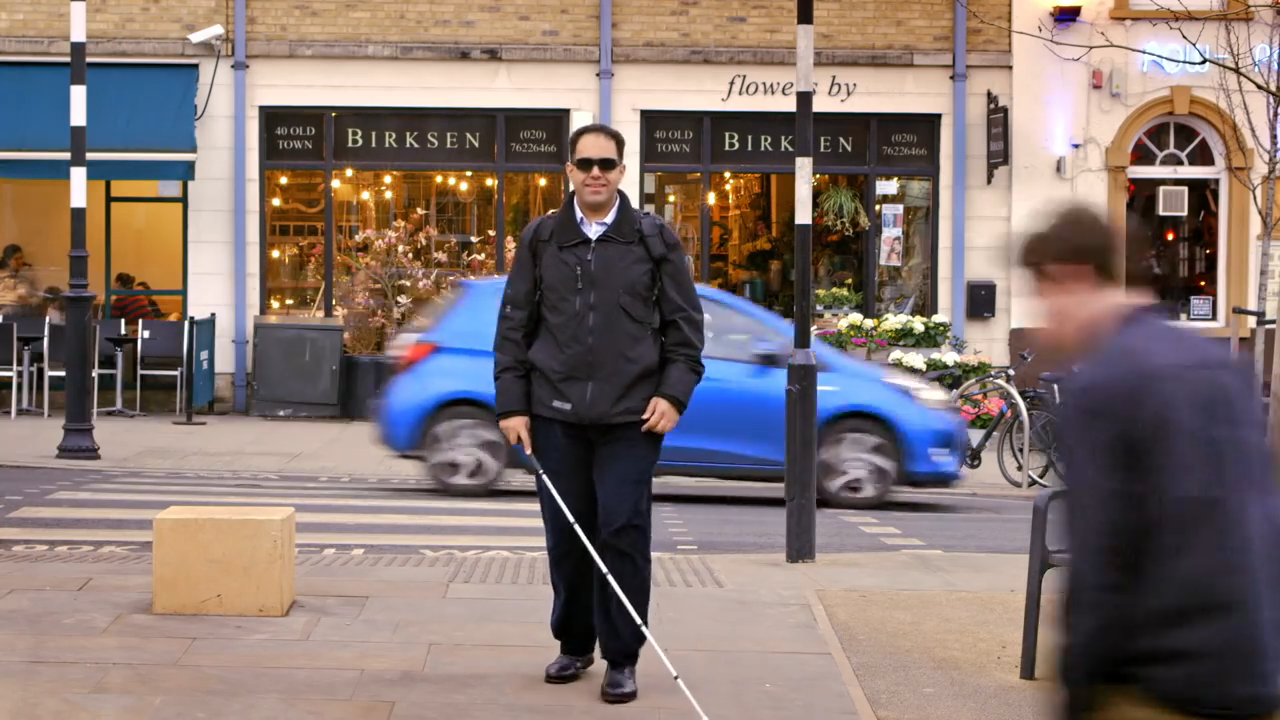 Image showing how AI helps people with disabilities [Source: The Next Web/Microsoft]