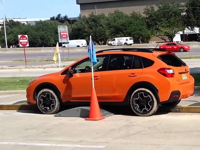 Subaru XV สามารถผ่านเนินได้สูงขนาดนี้