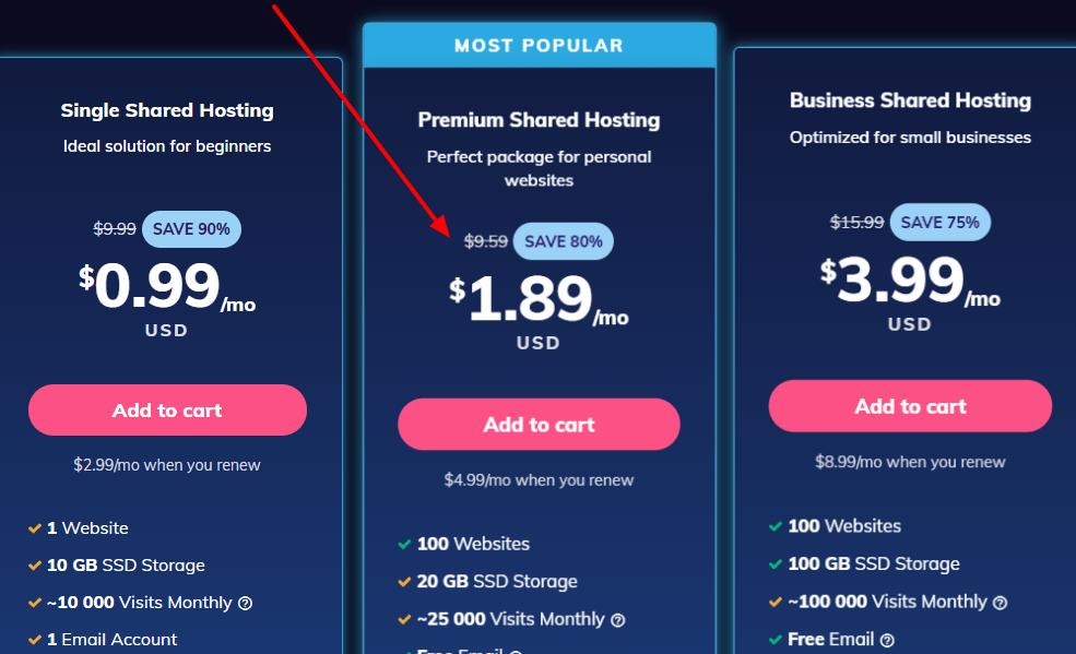 hostinger free domain