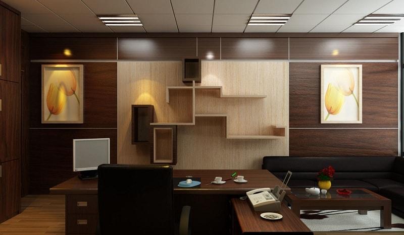thiết kế thi công nội thất văn phòng phong cách yên tĩnh