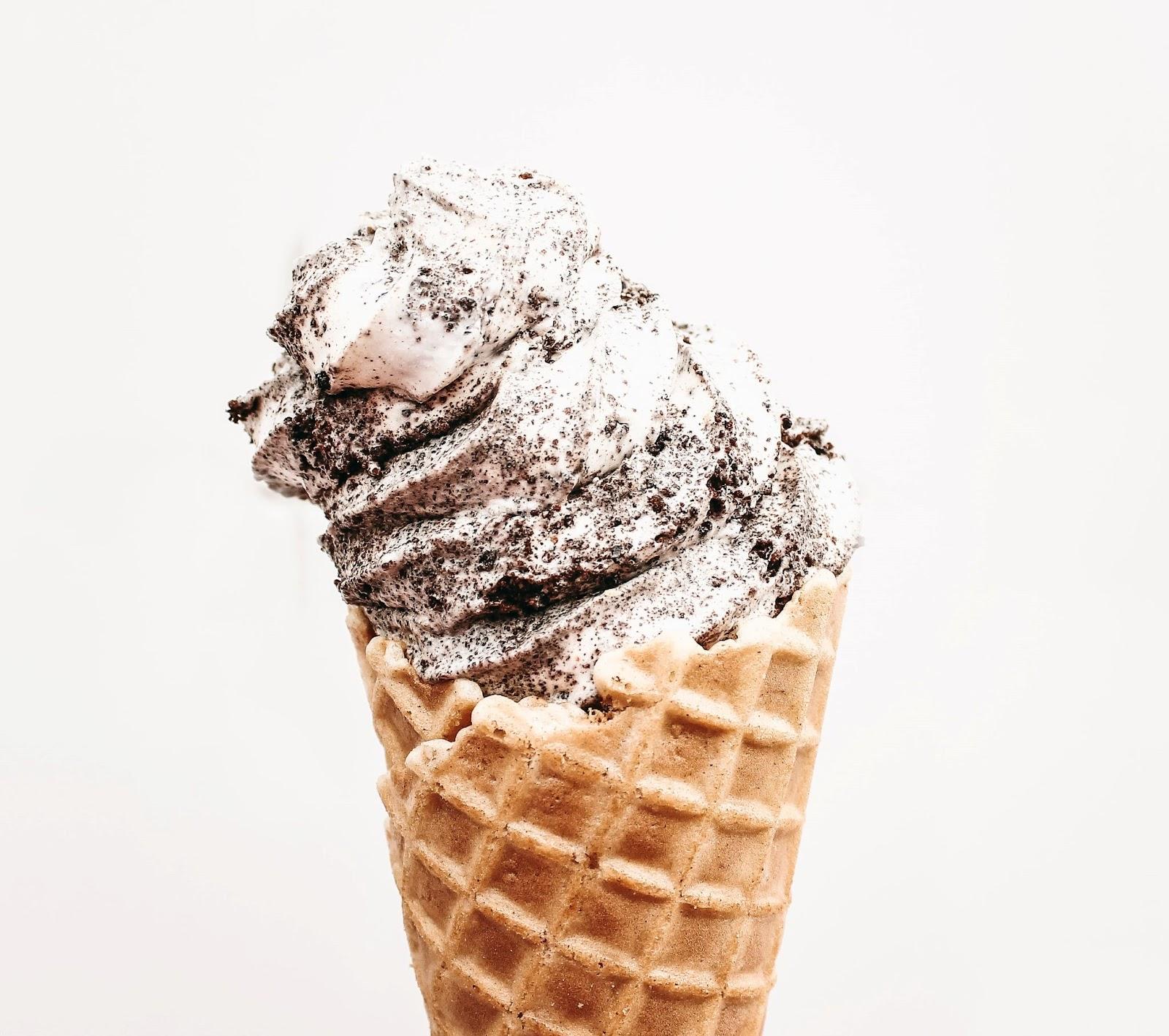 waffle cone ice cream