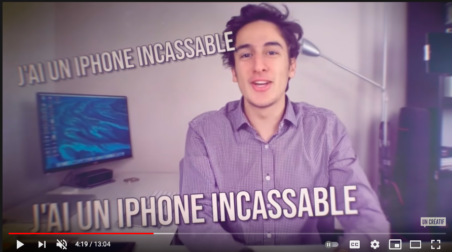 Vidéo Un créatif, Youtube