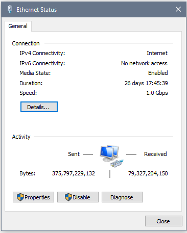 Network Adapter Status Display