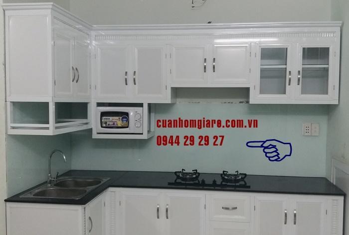 Tủ bếp nhôm kính sơn tĩnh điện tân bình hcm