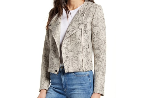 Cupcakes And Cashmere Isabell Faux Leather Moto Jacket from Nordstrom Rack