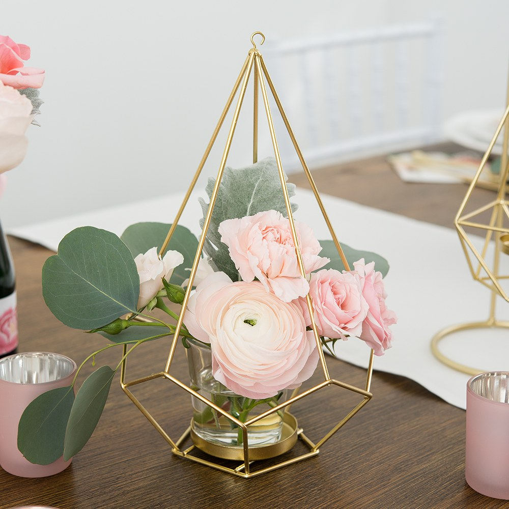 copper wire candle holders for wedding table centerpieces