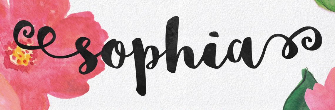 Charming, feminine calligraphy font called Sophia