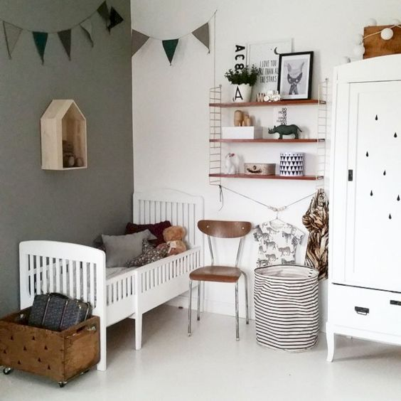 DIY Fabric Banner Hanging for Baby Boy Bedroom Ideas