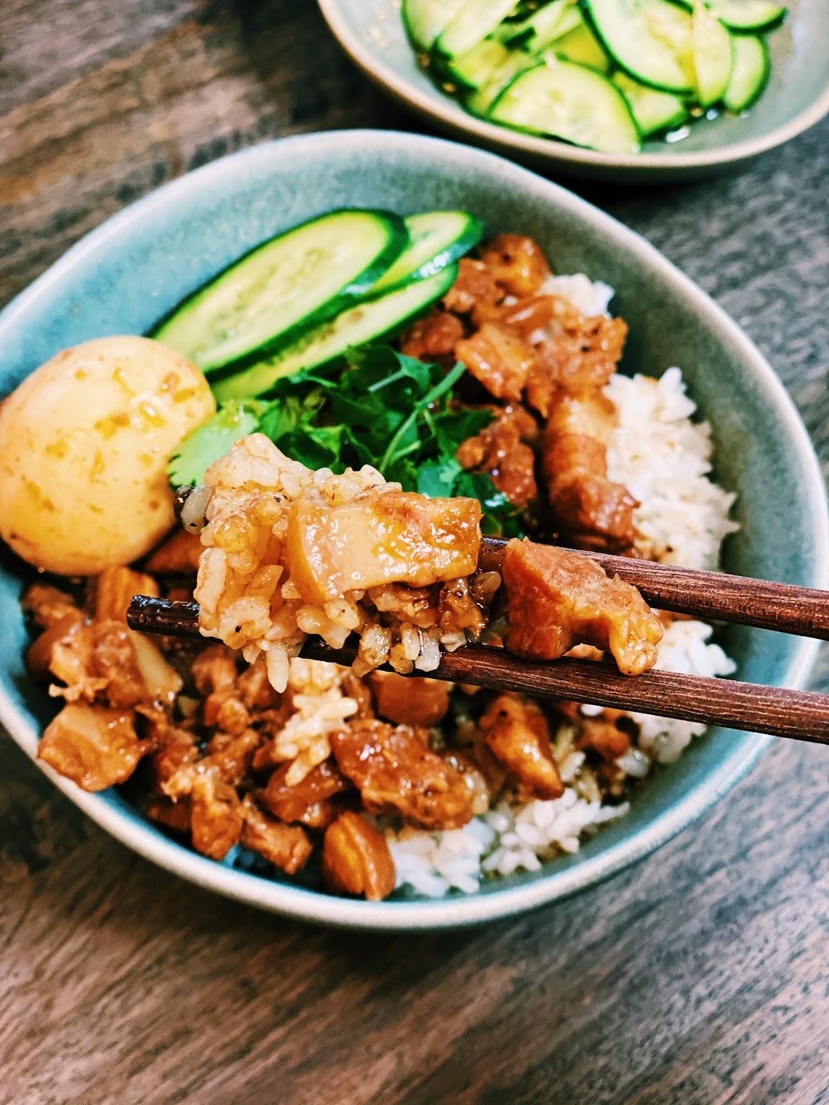 Pork belly rice