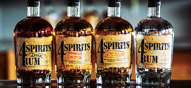 The 4 Spirits Distillery Line of Rums
