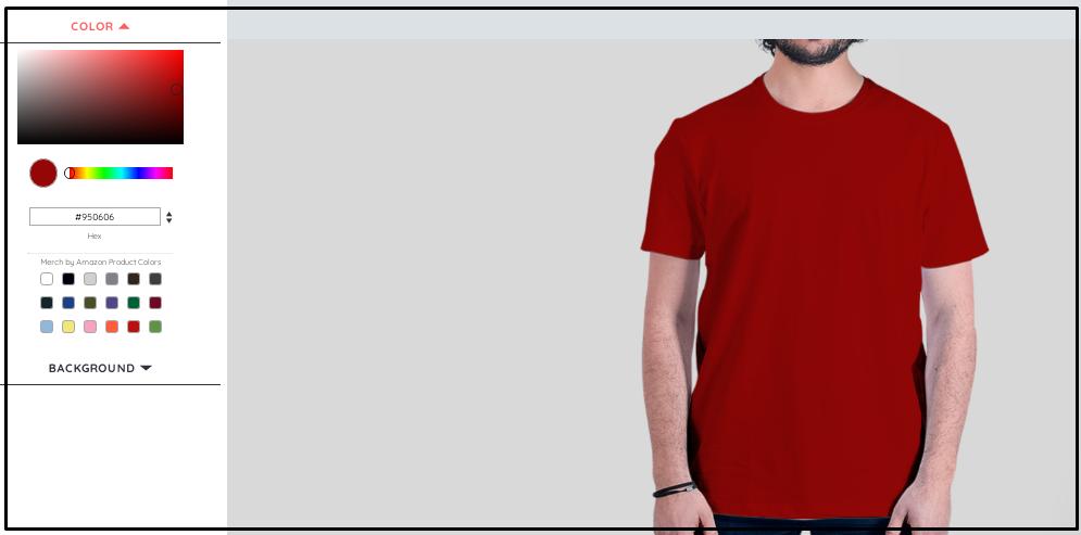 A man wearing red plain shirt
