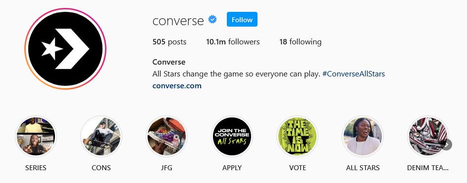 instagram brands converse