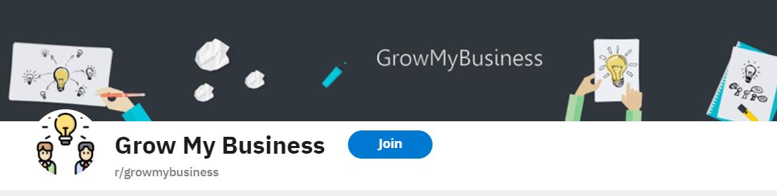 Screenshot of subreddit r/growmybusiness