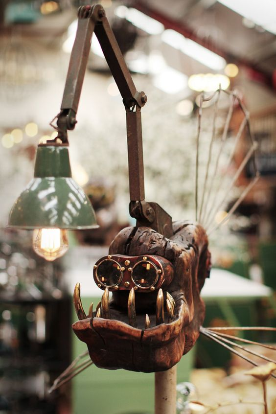 An Angry Fish Table Lamp