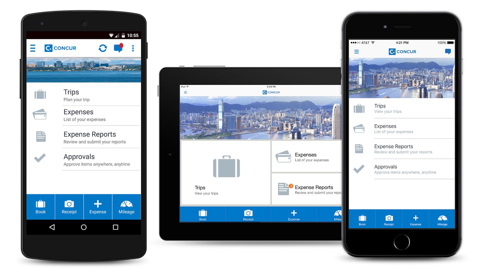 SAP Concur Mobile App Receipt scanner