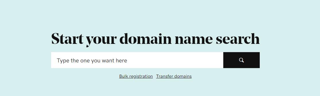Godaddy India domain search