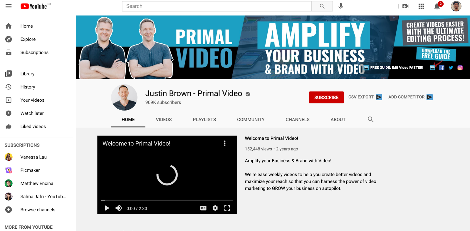 Picmaker-YouTube-Channel-Example-Primal-Video-Justin-Brown