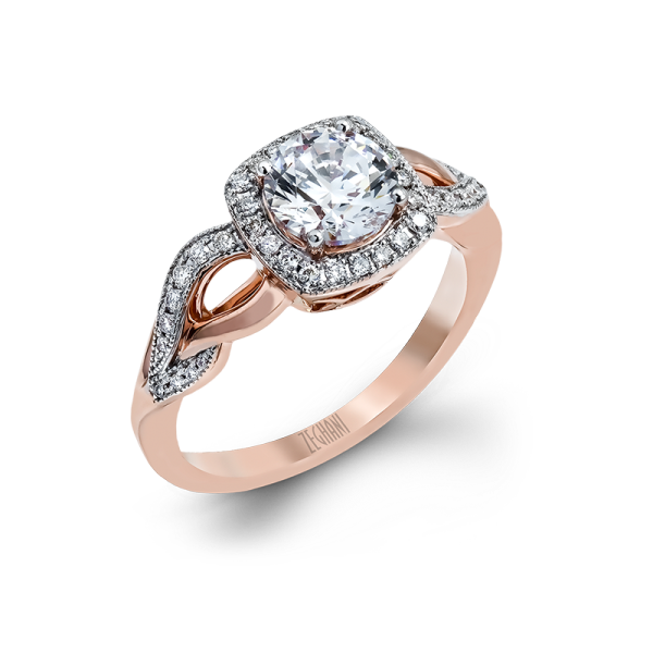 Refined Rebel Collection Rose Gold Engagement Ring by Zeghani