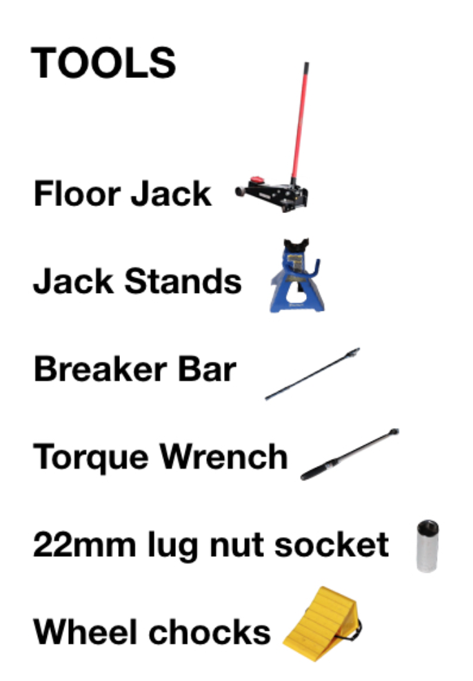 Jeep Wrangler JL DIY Tire Rotation Tools