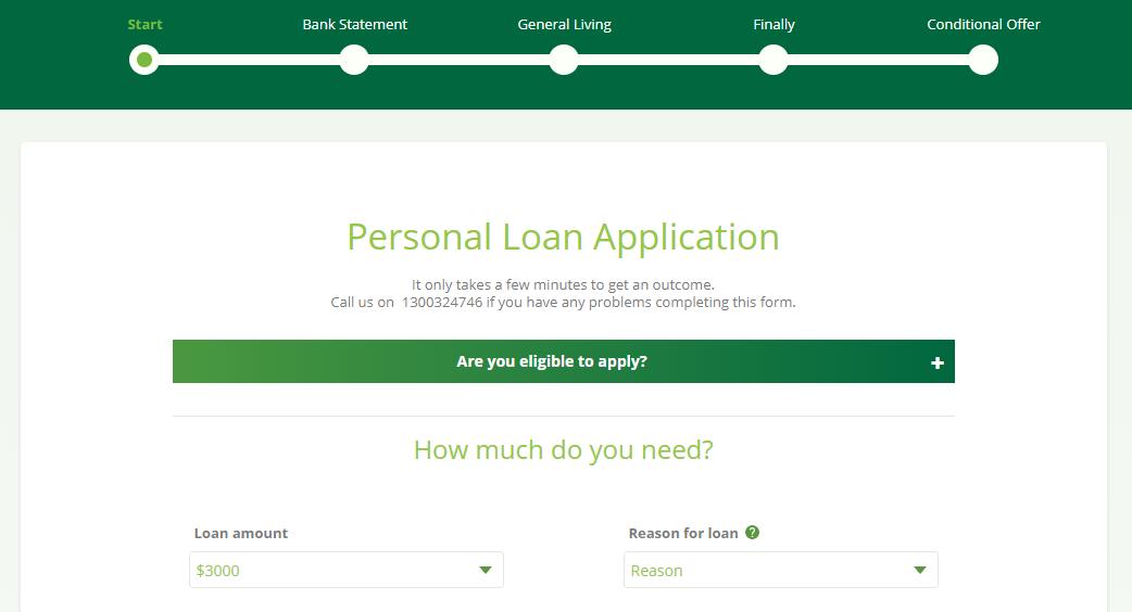 fair go finance application form