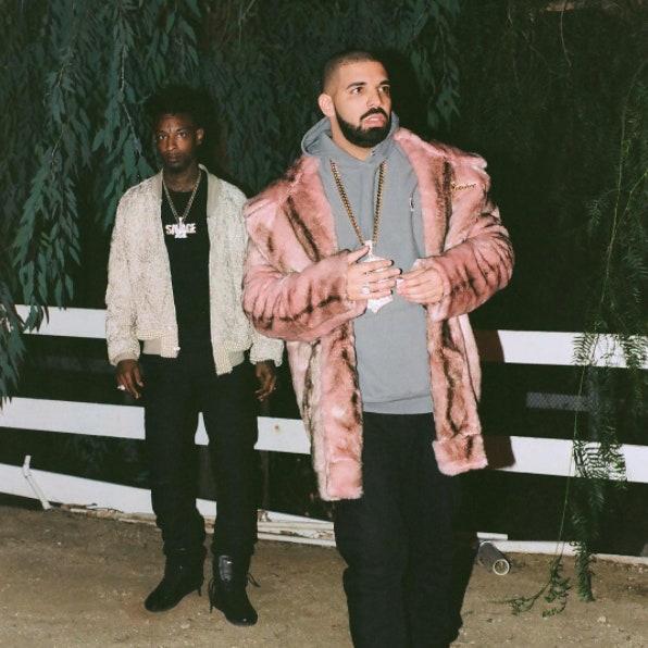 Drake Pink Fur Jacket