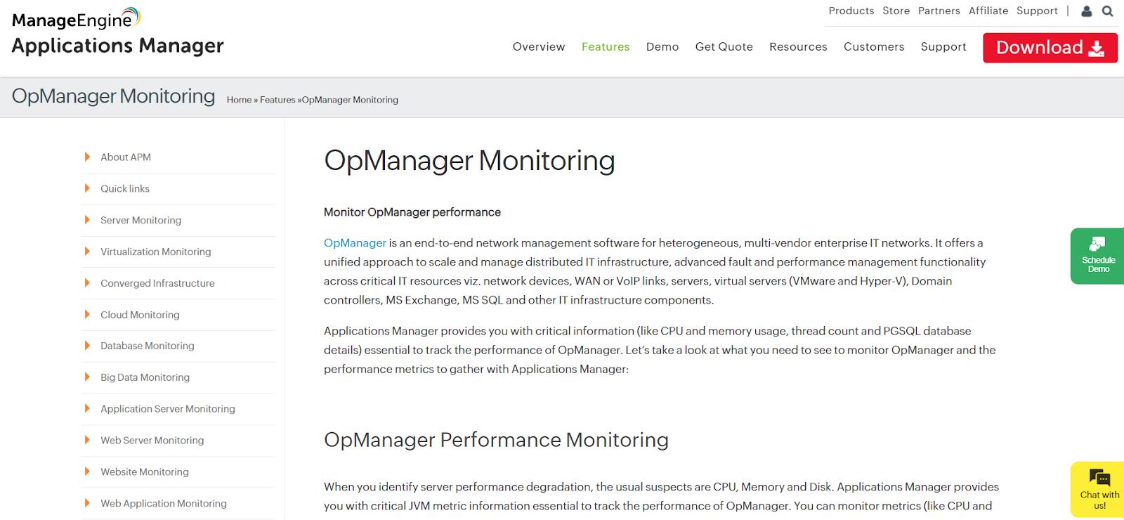 ManageEngine Server Application Monitoring Software