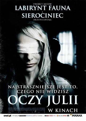 Przód ulotki filmu 'Oczy Julii'