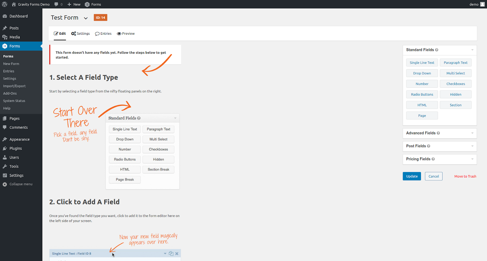 gravity forms wordpress form plugin features