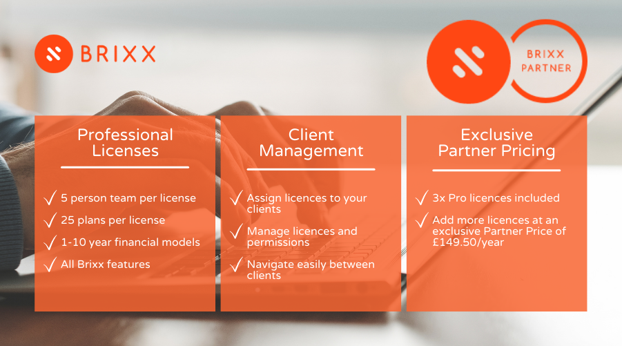 Brixx Partner Program benefits represented in an image for the Financial Forecasting For Accountants - The Brixx Partner Program blog post for Brixx Software