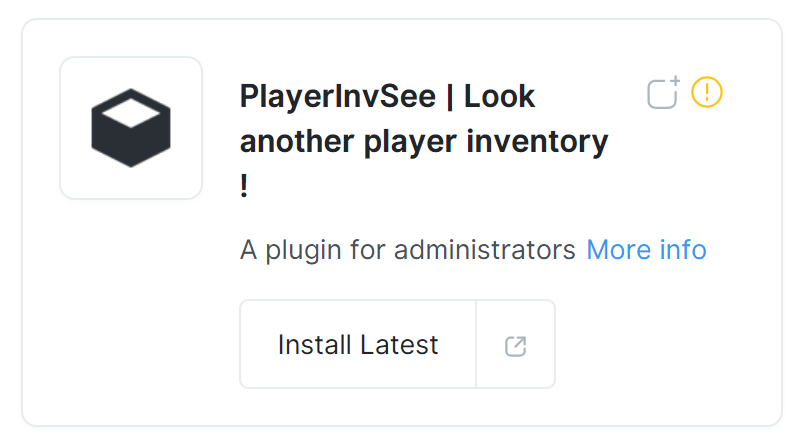 PlayerInvSee Plugin per Vedere l'Inventario di un Player In Minecraft