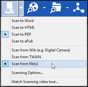 Scanning Drop down list