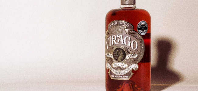 A Bottle Of Virago Spirits' Ruby Port Cask Finished Rum