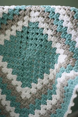 granny square baby blanket beginner crochet pattern