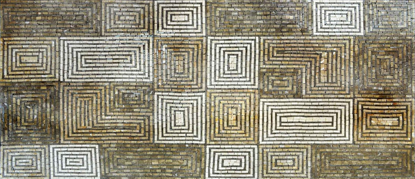 Rectangular Spiral Mosaic Pattern by Mozaico
