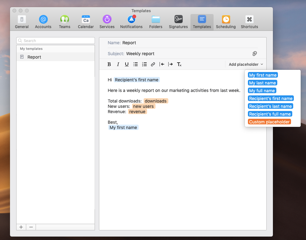 Readdle Knowledge Base Email Templates