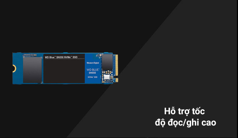 Ổ cứng SSD WD Blue SN550 1TB M.2 2280 NVMe Gen3 x4 (WDS100T2B0C) | Hỗ trợ tố độ/ghi cao