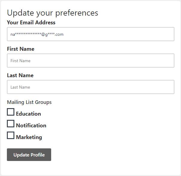 fluentcrm email preference management