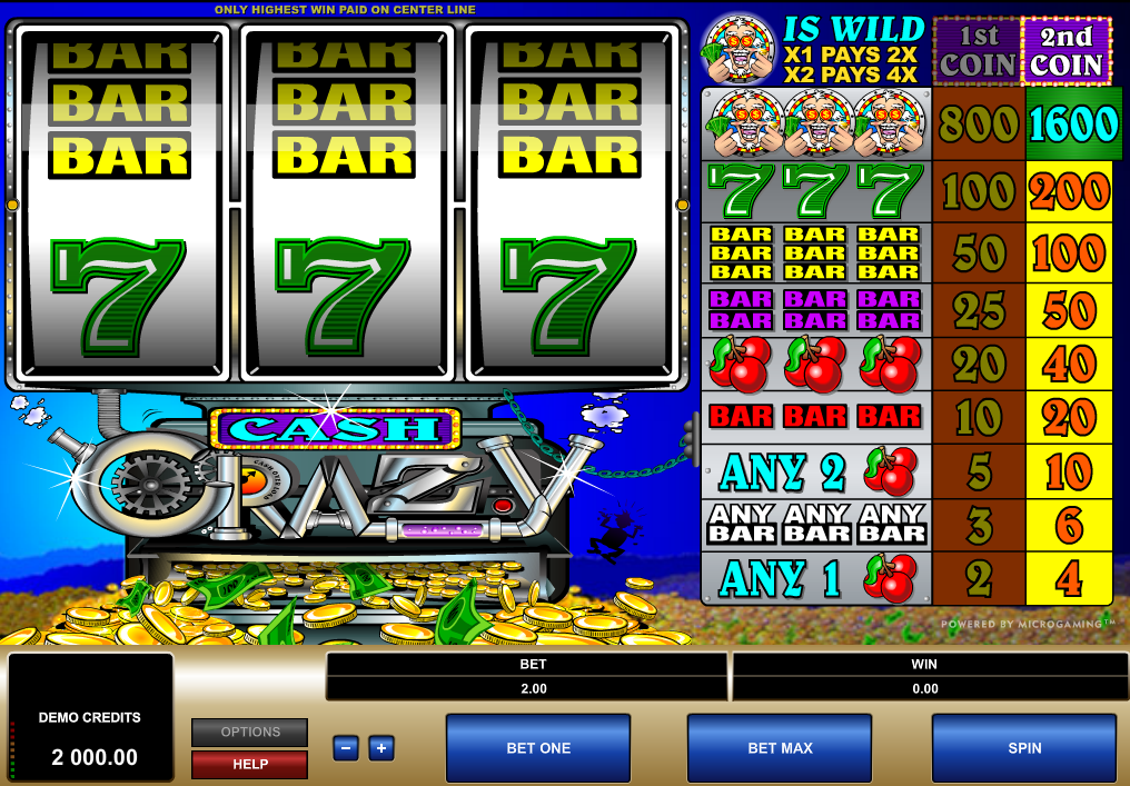 Cash Crazy Slots Game Review